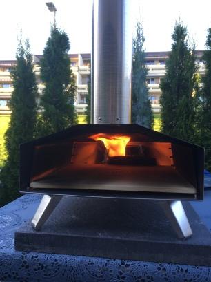Uuni oppnår 500 °C.